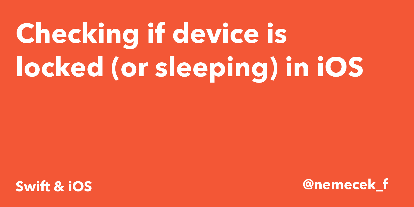 Checking if device is locked (or sleeping) in iOS