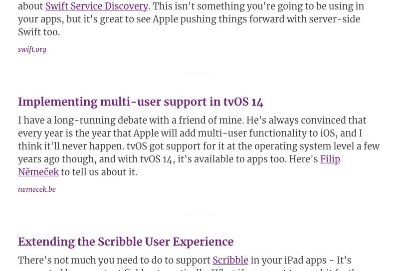iOS Dev Weekly tvOS post