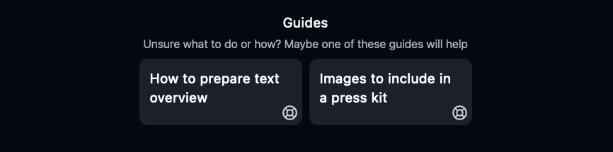 ImpressKit guides how to prepare overview and images to include in press kit