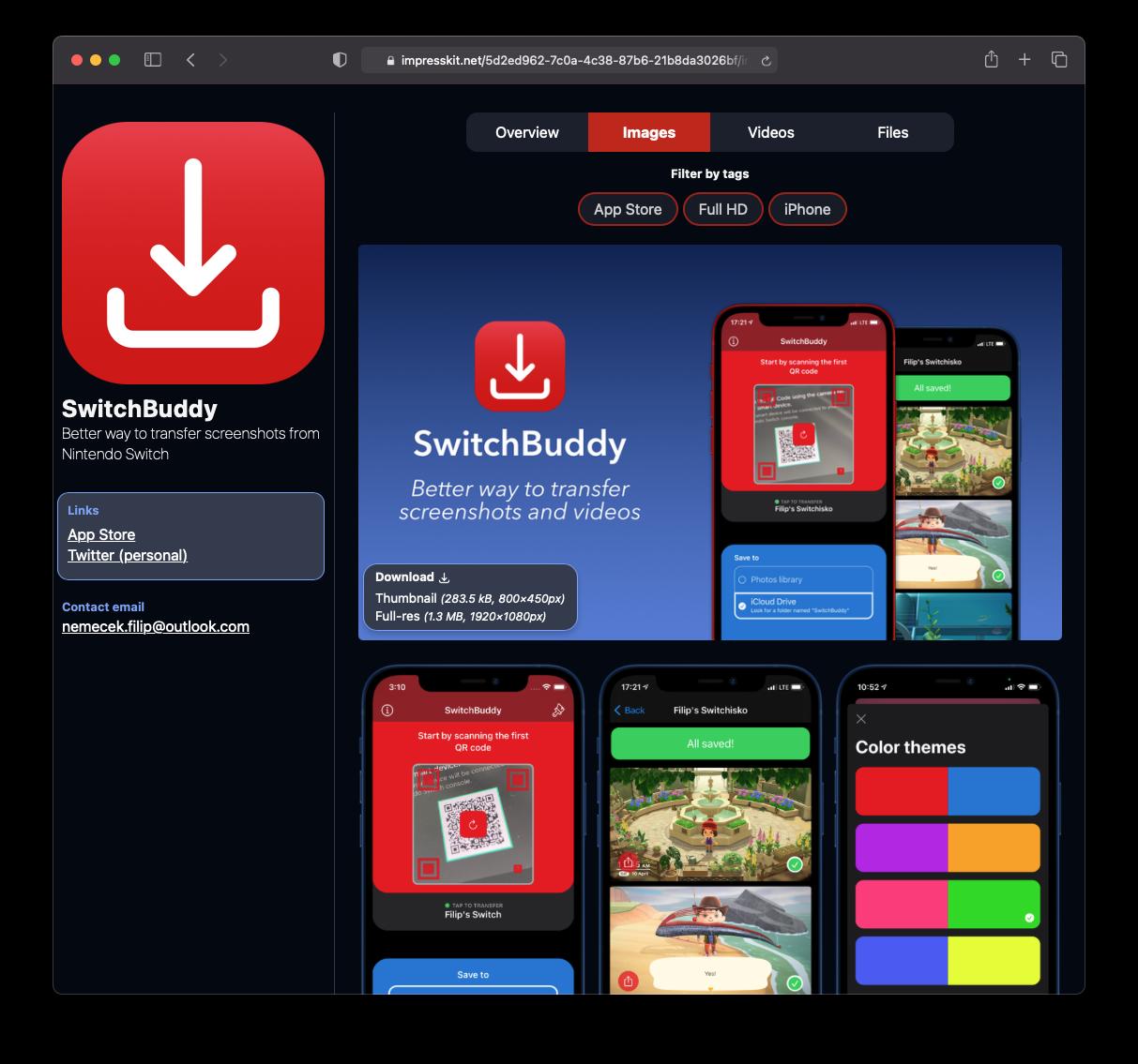 ImpressKit - press kit for your mobile app