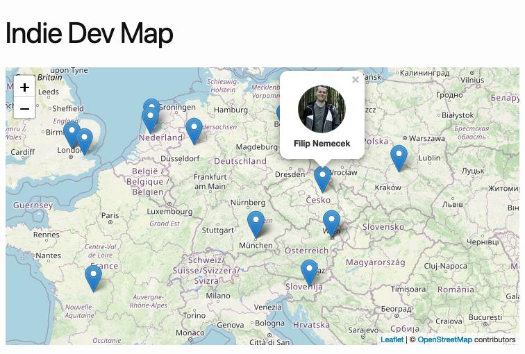 Indie Dev Map