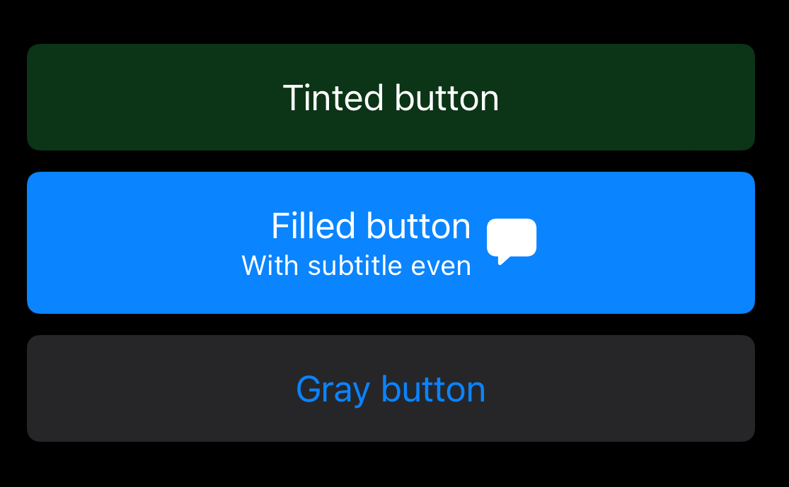 iOS 15 Buttons - subtitle and trailing image