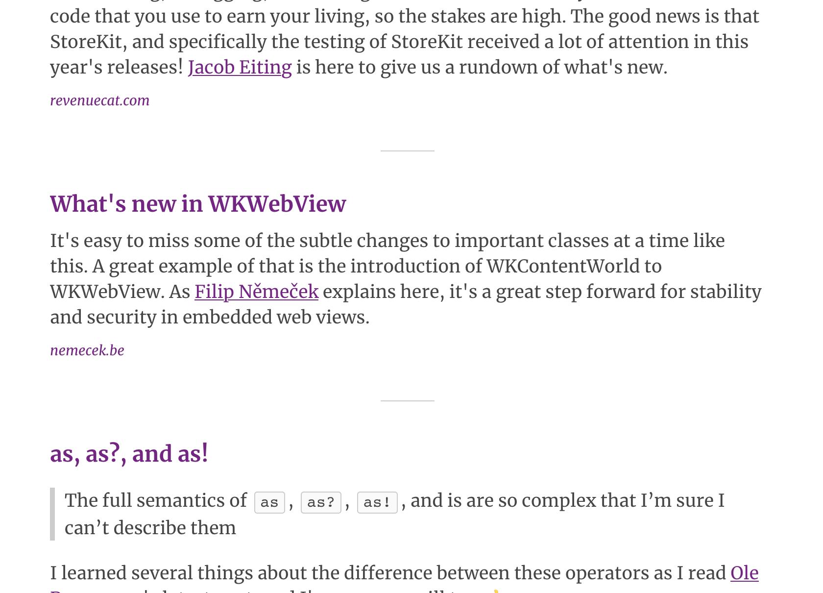 iOS Dev Weekly WKWebView feature