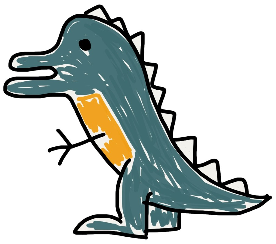 Josh Holtz's dinosaur drawing 1