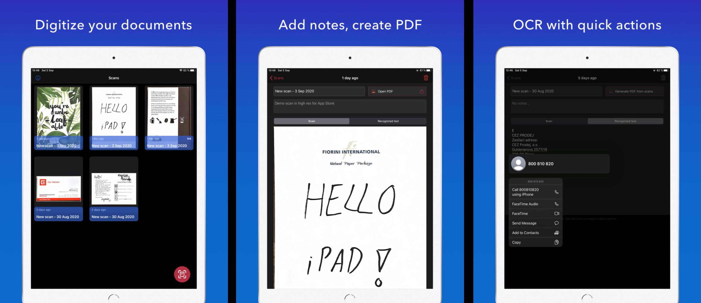 Scan it - iPad promo